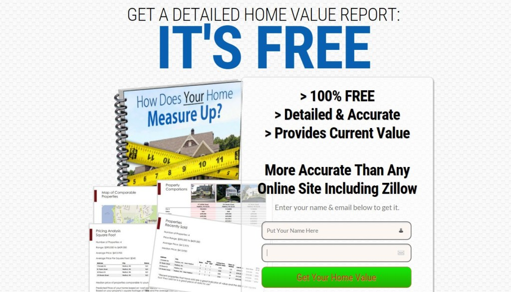 Home Value Landing Page
