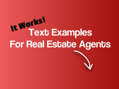 Text Examples For Real Estate Agents