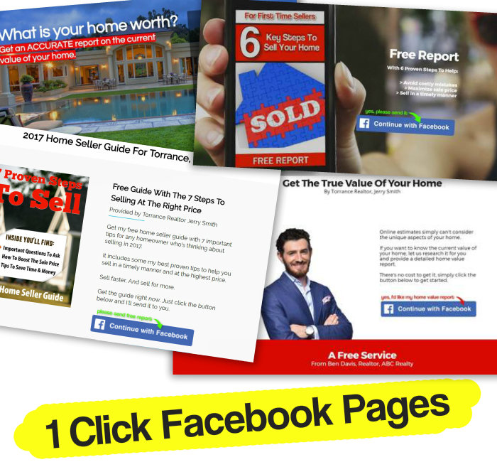 Facebook real estate landing pages